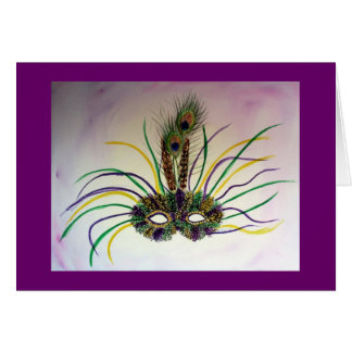 Mardi Gras Mask Greeting or Note Cards