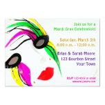 Mardi Gras Mask Invitation