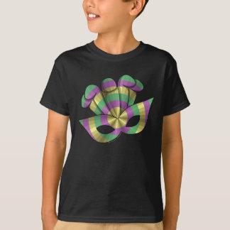 Mardi Gras Mask Kid's and Baby Dark Shirt