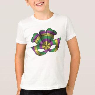 Mardi Gras Mask Kid's and Baby Light Shirt