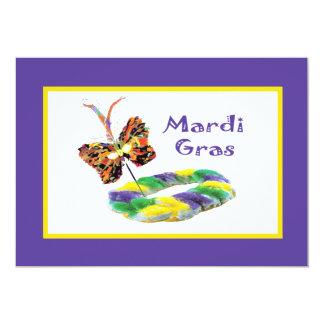 Mardi Gras Mask & Kingcake Party Invitation