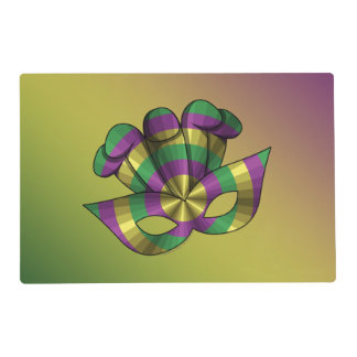 Mardi Gras Mask Laminated Placemat