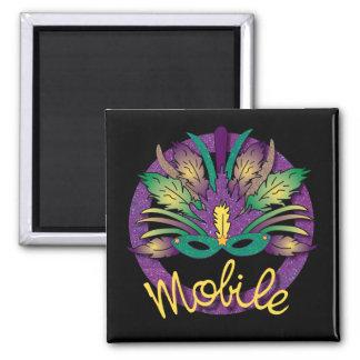 Mardi Gras Mask Magnet - Mobile, AL