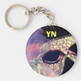 Mardi Gras Mask monogram keychain