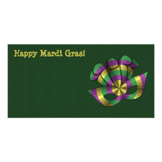 Mardi Gras Mask Photo Card