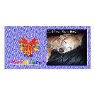 Mardi Gras Mask Custom Photo Card