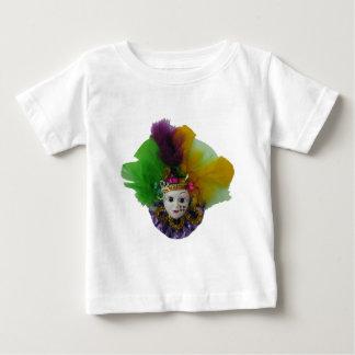 Mardi Gras Mask Purple Curls Baby T-Shirt