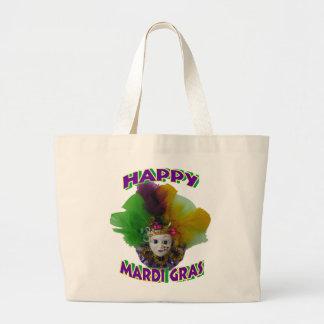 Mardi Gras Mask Purple Curls Bag