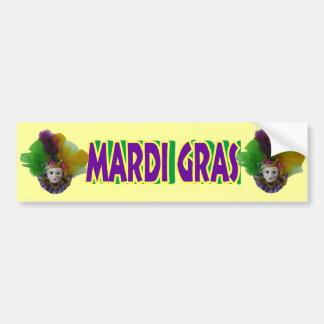 Mardi Gras Mask Purple Curls Bumper Sticker