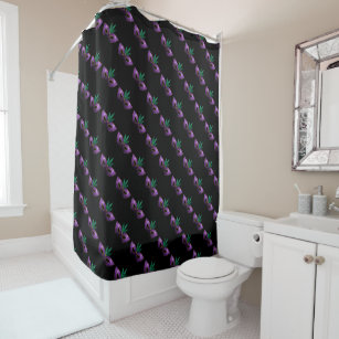 Mardi Gras Mask Purple Green Gold Sparkles Pattern Shower Curtain