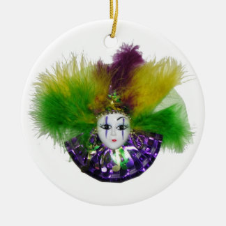 Mardi Gras Mask Purple Christmas Tree Ornaments