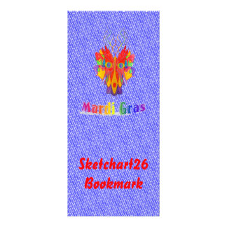 Mardi Gras Mask Rack Card
