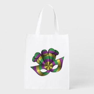 Mardi Gras Mask Reusable Grocery Bag