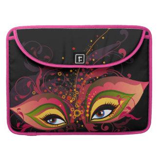 Mardi Gras Mask Rickshaw Flap Sleeve MacBook Pro Sleeves