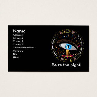 Mardi Gras Mask-Seize the night Business Card