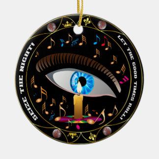 Mardi Gras Mask-Seize the night Ceramic Ornament