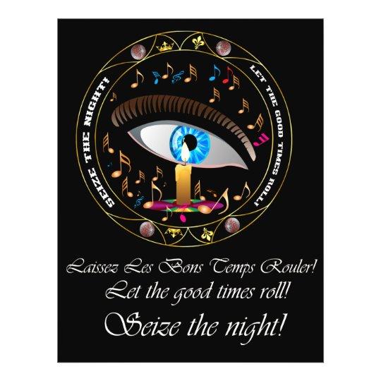 Mardi Gras Mask-Seize the night Flyer