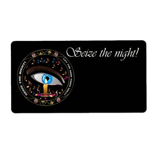 Mardi Gras Mask-Seize the night Label