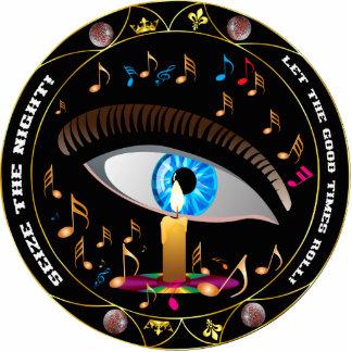 Mardi Gras Mask-Seize the night pin Cutout