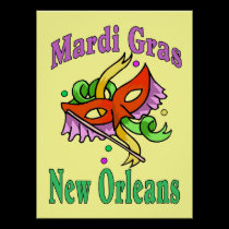 Mardi Gras MAsk Sign posters