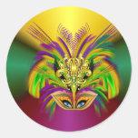 Mardi-Gras-Mask-The-Queen Classic Round Sticker