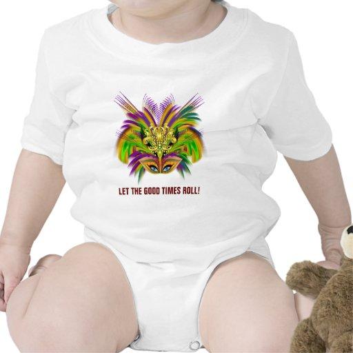 Mardi-Gras-Mask-The-Queen-V-2 Baby Bodysuit