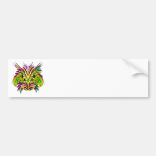 Mardi-Gras-Mask-The-Queen-V-2 Bumper Sticker