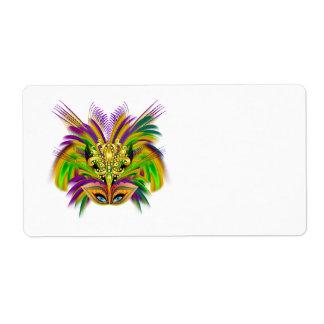 Mardi-Gras-Mask-The-Queen-V-2 Etiquetas De Envío