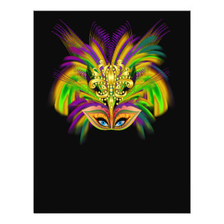 "Mardi-Gras-Mask-The-Queen-V-2 Folleto 8.5"" X 11"""