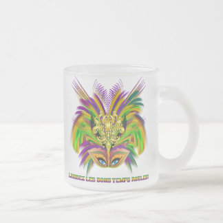 Mardi-Gras-Mask-The-Queen-V-2 Frosted Glass Coffee Mug