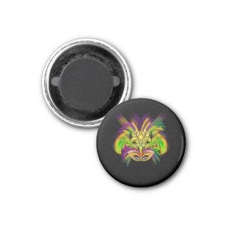 Mardi-Gras-Mask-The-Queen-V-2 Imán Redondo 3 Cm
