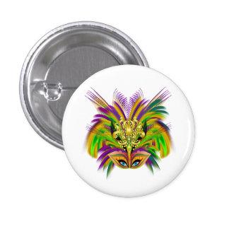 Mardi-Gras-Mask-The-Queen-V-2 Pin Redondo De 1 Pulgada
