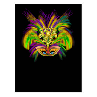 Mardi-Gras-Mask-The-Queen-V-2 Postcard