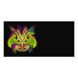 Mardi-Gras-Mask-The-Queen-V-2 Tarjetas Fotográficas Personalizadas