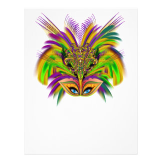 "Mardi-Gras-Mask-The-Queen-V-3 8.5"" X 11"" Flyer"