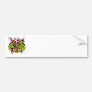 Mardi-Gras-Mask-The-Queen-V-3 Car Bumper Sticker