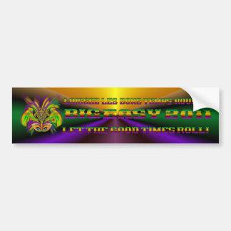 Mardi-Gras-Mask-The-Queen-V-3 Bumper Sticker