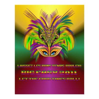 "Mardi-Gras-Mask-The-Queen-V-3 Folleto 8.5"" X 11"""