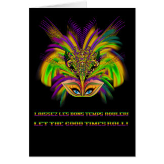 Mardi-Gras-Mask-The-Queen-V-3 Greeting Card