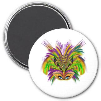 Mardi-Gras-Mask-The-Queen-V-3 Imán Redondo 7 Cm