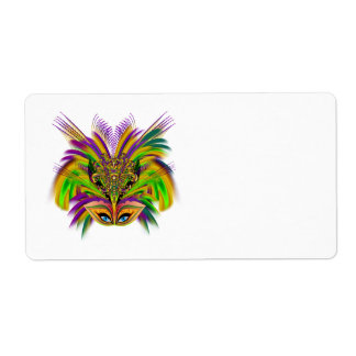 Mardi-Gras-Mask-The-Queen-V-3 Custom Shipping Labels