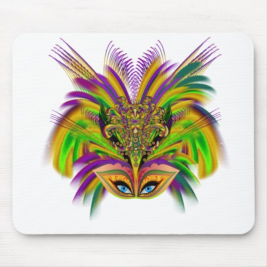 Mardi-Gras-Mask-The-Queen-V-3 Mouse Pad