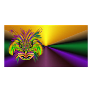 Mardi-Gras-Mask-The-Queen-V-3 Photo Card Template