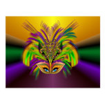 Mardi-Gras-Mask-The-Queen-V-3 Postcard