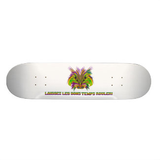 Mardi-Gras-Mask-The-Queen-V-3 Skateboard Deck