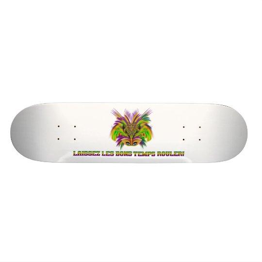 Mardi-Gras-Mask-The-Queen-V-3 Skateboard Deck