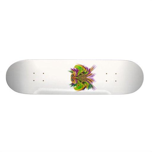 Mardi-Gras-Mask-The-Queen-V-3 Skateboard Decks