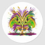 Mardi-Gras-Mask-The-Queen-V-4 Classic Round Sticker