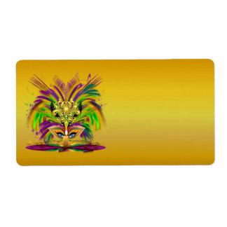 Mardi-Gras-Mask-The-Queen-V-4 Etiqueta De Envío