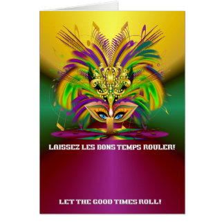 Mardi-Gras-Mask-The-Queen-V-4 Greeting Card